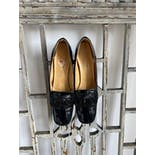 another view of 60's Black Leather Heels byCaptivators