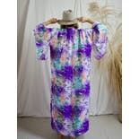 another view of Purple Silk Chrysanthemum Kimono