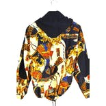 another view of 90's Multicolor Printed Hooded Bomber Jacket by Braetan