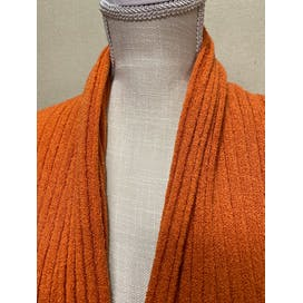 90's Orange Scarf Neck Cardigan Sweater by Louis dell olio