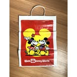 another view of 80's Walt Disney World Mickey and Minnie Mouse Plastic Shopping Bag