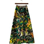 60's Multicolor Abstract Print Skirt by Nelly de Grab