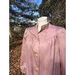 another view of Dusty Rose Babydoll Button Up Coat by Bonders