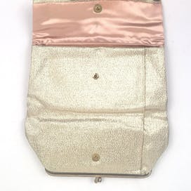 50's Metallic Gold Foldover Clutch by Lady Buxton
