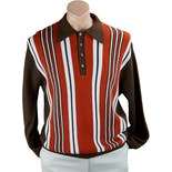 70's Brown Striped Pullover Sweater