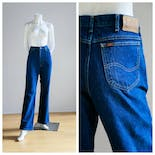 another view of 90's High Waisted Dark Wash Jeans by LEE
