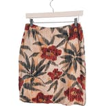 another view of 90's Beige Silk Floral Wrap Skirt by Jones New York