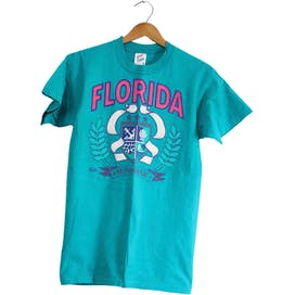 90's Blue Florida Sunshine Cotton T-Shirt by Jerzees