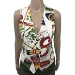 Pop Art Print Vest by Nadia