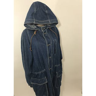 Full Length Denim Duster Trench by LizWear