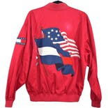 another view of 90's Red Flag Graphic Men's Bomber Jacket by Tommy Hilfiger