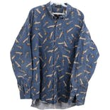 90's Men's Canoe Print Button Up Shirt by Chaps