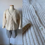 another view of 90's Off-White Mohair Cardigan by L. L. Bean