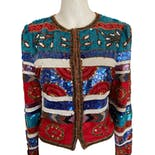 80's/90's Multicolor and Print Embellished Jacket by Laurence Kazar