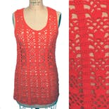 another view of 70's Hand Knit Crochet Sweater Vest