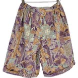 another view of 90's Tan Printed Bermuda Shorts by Niki Taylor