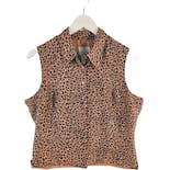 90's Sleeveless Leopard Print Top