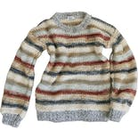 80's Chunky Textured Stripe Sweater