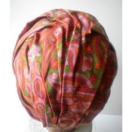 40's Multicolor Paisley Turban Hat by Le Charme'