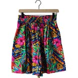 90's High-Rise Funky Abstract Shorts by Westbound