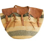 Handmade Market Bag with Shoulder Strap
