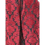 another view of 70's Red Damask Floral Velvet Brocade Vest by V. I.P. California