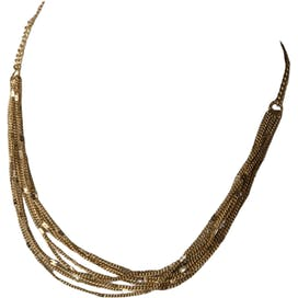 80's Gold Multi Strand Layering Necklace