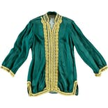 60's Green Buttoned Jacket with Yellow Trim