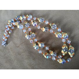 Crystal Double Strand Multicolor Beaded Necklace