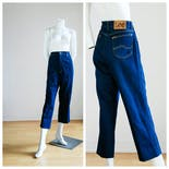 another view of 90's High Waisted Dark Wash Cropped Jeans by LEE