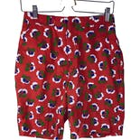 Red Floral Long Bermuda Shorts