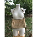 another view of Beige Rattan Shoulder Bag by Etienne Aigner