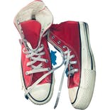 Red Hightop Chuck Taylor Sneakers by Converse