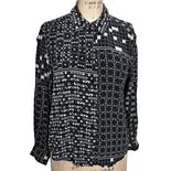 80's Black Silk Abstract Blouse by Canvasbacks - Lutton & Horsfield