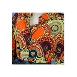 Orange Abstract Silk Blouse by ColorFX