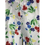 another view of Colorful Floral Long Shorts