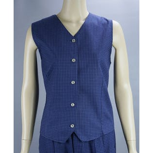 80's Blue Cotton 2 Piece Set by Northern Treasures