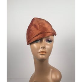 40's Burnt Orange Fascinator Hat by Chapeaux