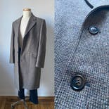 another view of Grey Brown Wool Tweed Coat by London Fog