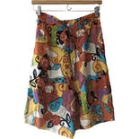 80's Abstract Print High Waist Shorts by Whittall & Shon - HoneyBee