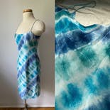another view of Blue Tie Dye Silk Dress by Ralph Lauren