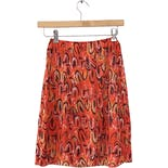 70's Orange Feather Print Skirt by VERA for Formfit Rogers