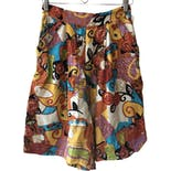 another view of 80's Abstract Print High Waist Shorts by Whittall & Shon - HoneyBee