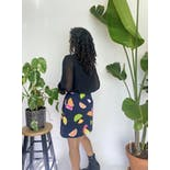 another view of 90's Navy Blue Fruit Print Skort