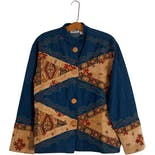90's Patchwork Chambray Tapestry Jacket