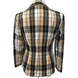 another view of 60's Tan and Black Plaid Fitted Blazer by Sears
