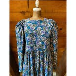 another view of 80's Floral Corduroy Dress by Laura Ashley