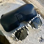 another view of Zebra Print Sunglasses by Yves Saint Laurent