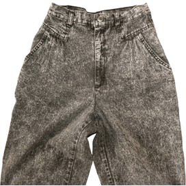 80's/90's Acid Wash High Waisted Gray Jeans