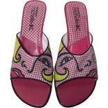 Pink Pop Art Leather Mules by Sketchers x Michelle K